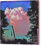 Thunderhead Wood Print by Kevyn Bashore