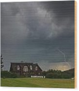 Thunderstorm Over Sugar Hill Wood Print