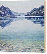 Thunersee Von Leissigen Wood Print
