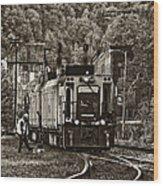 Thurmond Wv Train Sepia Wood Print