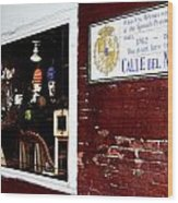 The Window On Calle Del Maine Wood Print