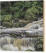 Thwaite Waterfall Yorkshire Dales Uk Wood Print