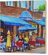 Ti Amo Restaurant Prince Arthur Street Montreal Wood Print