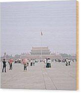 Tiananmen Square In Beijing In China Wood Print