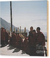 Tibetan Monks 2 Wood Print