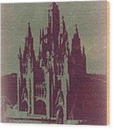 Tibidabo Barcelona Wood Print