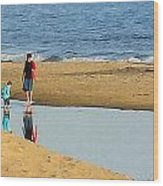 Tidal Pool Wood Print