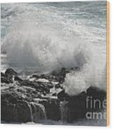 Tidal Spray Wood Print