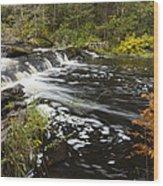 Tidga Creek Falls 1 Wood Print
