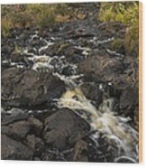 Tidga Creek Falls 3 Wood Print