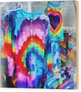 Tie Dye Shirts Wood Print