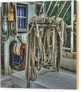 Tied Up Lines Wood Print by Michael Thomas