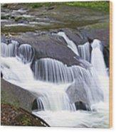 Tiered Waterfals Wood Print
