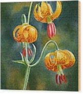 Tiger Lilies #3 Wood Print