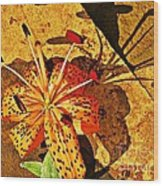 Tiger Lily Still Life  Wood Print
