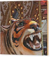 Tiger Merry Go Round Animal Wood Print