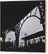 Tiger Stadium Silhouette Wood Print