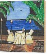Tiki Light Dining Wood Print
