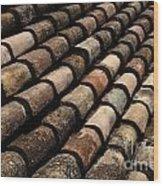 Tile In Dubrovnik Croatia Wood Print