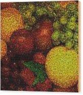 Tiled Fruit  Wood Print