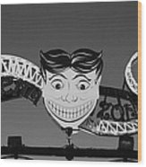 Tillie's Scream Zone In Black And White Wood Print