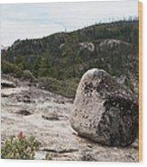 Tilted Rock Wood Print