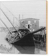 Tilting Boat At Gloucester Wood Print