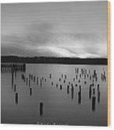 Tiltow Beach  In Black And White Wood Print by Sarai Rachel