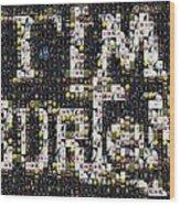 Tim Burton Poster Collection Mosaic Wood Print
