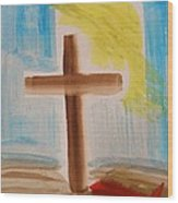 Tim Tebow's Cross-easter Monday Wood Print