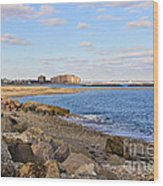 Time-honored New England Coast Wood Print by Extrospection Art