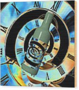 Time In A Bottle Wood Print