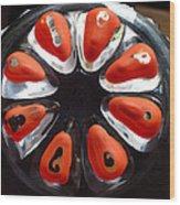 Orange And Black Art -time - Sharon Cummings Wood Print