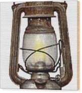 Time Worn Kerosene Lamp Wood Print