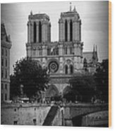 Timeless Notre Dame Wood Print