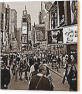 Times Square New York S Wood Print