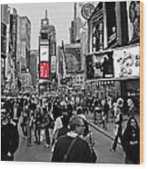 Times Square New York Toc Wood Print