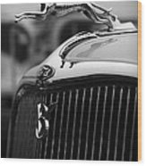 Timmis-ford V8 Greyhound Hood Ornament Wood Print