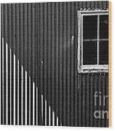 Tin Light And Window Wood Print