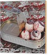 Tin Of Eyes Wood Print