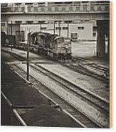 Tinted Train Wood Print