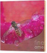 Tiny Bee Wood Print