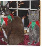 Tiny Holiday Wishes Wood Print