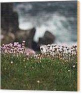 Tiny Pink Flowers Wood Print