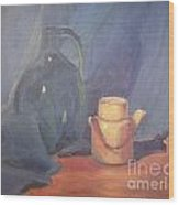 Tiny Tea Wood Print by Lilibeth Andre