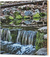 Tiny Waterfalls Wood Print