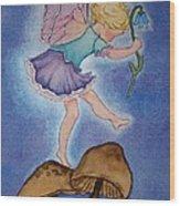Tiptoe Fairy Wood Print