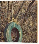 Tire Swing Wood Print