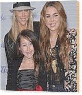 Tish Cyrus, Noah Cyrus, Miley Cyrus Wood Print