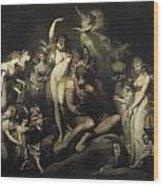Titania And Bottom Wood Print